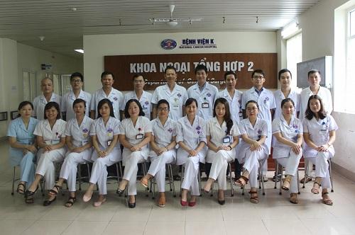 khoa ngoại bụng 2 bệnh viện k