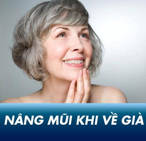 Phẫu thuật nâng mũi khi về già